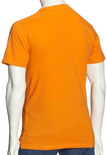 DC Shoes Star Short - Camiseta para hombre, color oscuro chocolate / amarillo naranja