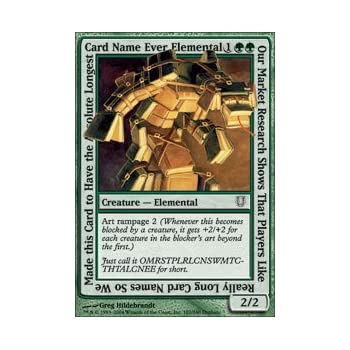 Magic: The Gathering - Our Market Research Shows That Players Like Really  Long Card Names So We Make This Card to Have the Absolute Longest Card Name