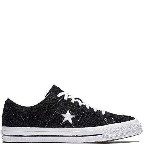 Converse Men's One Star Suede Ox Sneakers, Black, 8 M US]()