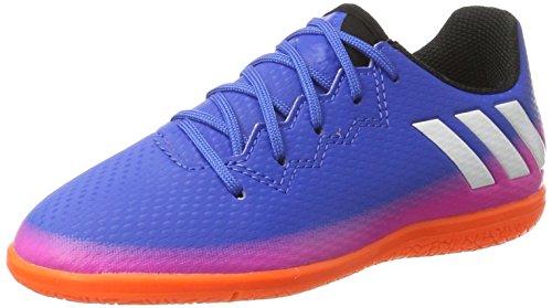 adidas Messi 16.3 In J, Zapatillas de Fútbol Unisex Niños Azul (Blue/footwear White/solar Orange)