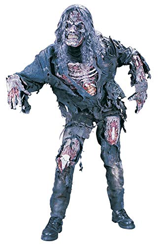 Haloween Scary Old Man Costumes - FunWorld Men's Complete 3D Zombie Costume,