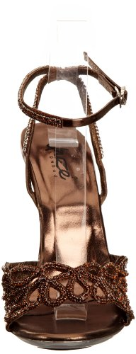 Unze Evening Sandals L18478W - Sandalias para mujer Marrón