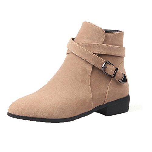 Donalworld Women Suede High Heel Martin Ankle Boot Pt3 ci0XLv2
