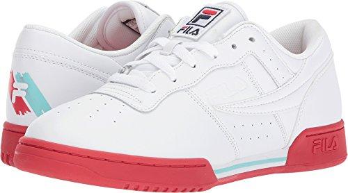 Fila Originele Fitness Logo Sneakers (wh Nv Rd) Heren Sportschoenen Wit / Vurig Rood / Aruba Blauw