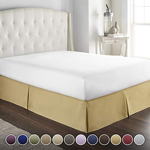 Ruffle Collection Dust - Hotel Luxury Bed Skirt/Dust Ruffle 1800 Platinum Collection-14 inch Tailored Drop, Wrinkle & Fade Resistant, Linens (King, Camel)