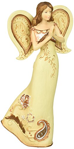 Perfectly Paisley Prayer Angel Figurine by Pavilion, 7-1/2-Inch ()