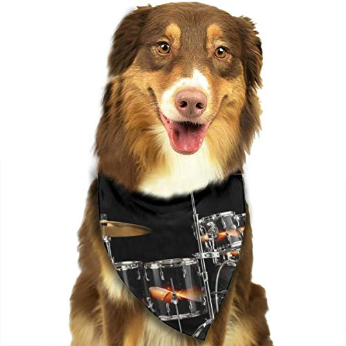 Pet Scarf Dog Bandana Bibs Triangle Head Scarfs Drum Kit Accessories for Cats Baby Puppy]()
