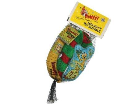 Yeowww Dreidel Krinkle Holiday Gift Bundle Catnip Toy, My Pet Supplies