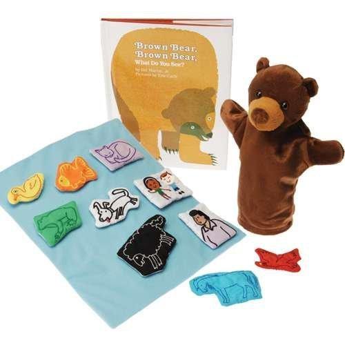Brown Bear Puppet, Props & Book Set