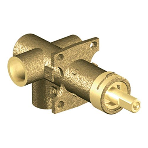 MOEN 3372 Collection Brass Three-Function Shower Rough-In Transfer Valve, 1/2-Inch CC Connection, 0.5, or or Unfinished