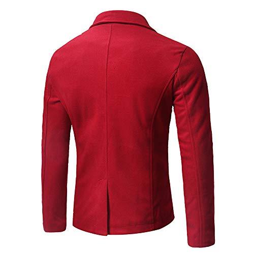 Coat Homme Aimee7 Trench Jacket Inclinée Rouge Blouson Zipper Mode D'épissure Manteaux Court Bqpdw0Rq