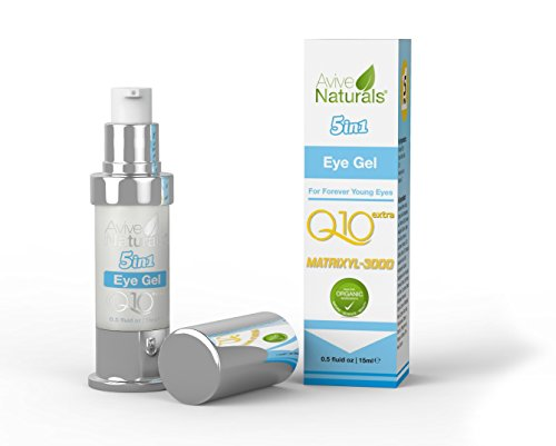 SUMMER SALEORGANIC 5 IN 1 Anti Aging Eye Cream for Dark Circles & Puffiness...