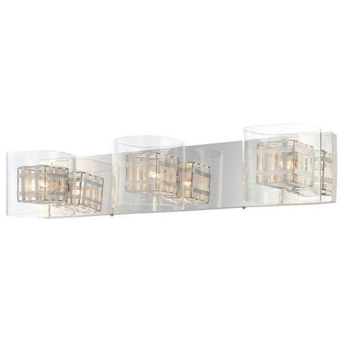 George Kovacs P5803-077, Jewel Box Glass Wall Vanity Lighting, 3 Light Halogen, Chrome by George ()