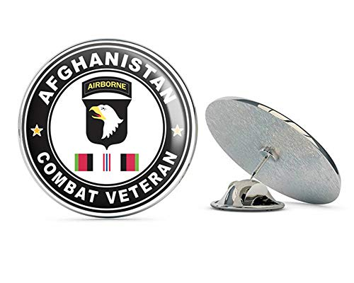 (Veteran Pins US Army 101st Airborne Division Afghanistan Campaign with Ribbon Metal 0.75