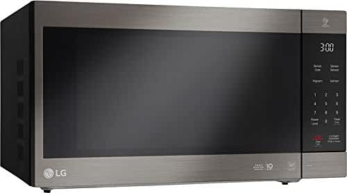 LG LMC2075ABD Neochef Countertop Microwave with Smart Inverter, Black/Stainless Steel