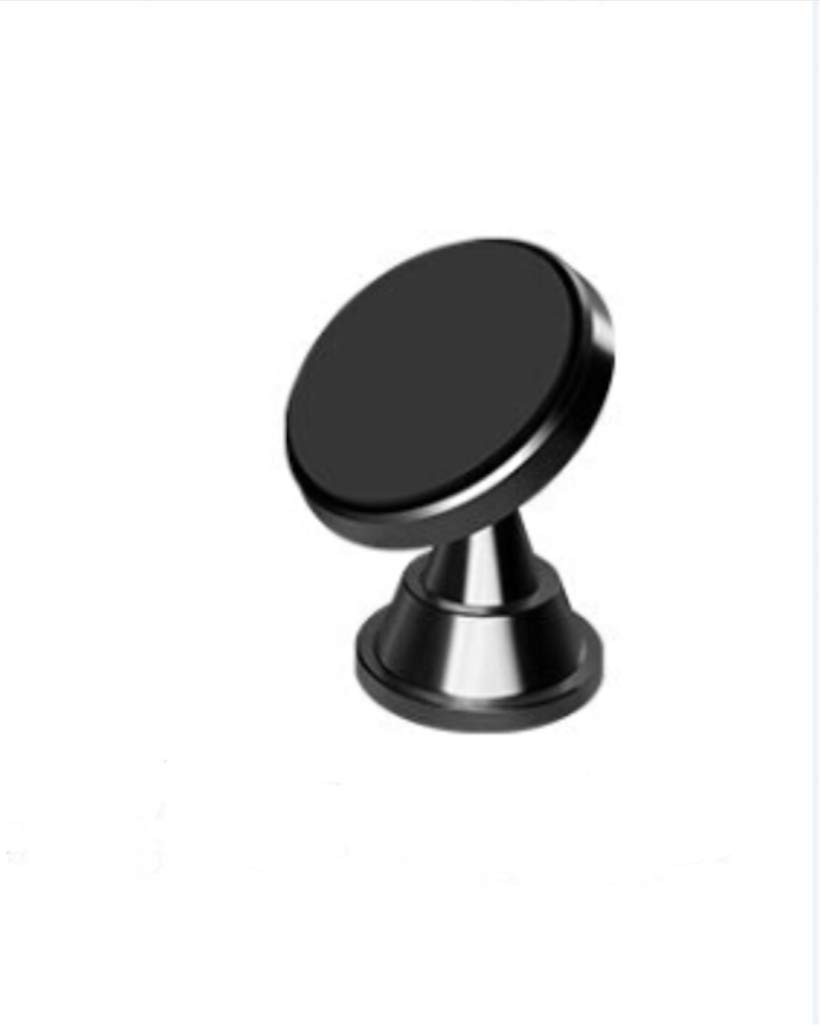 Compatible with All Devices 360/° Car Magnetic Phone Holder Aluminum Stand Universal Car Mount for Mobile Phone Dark Silver//Grey