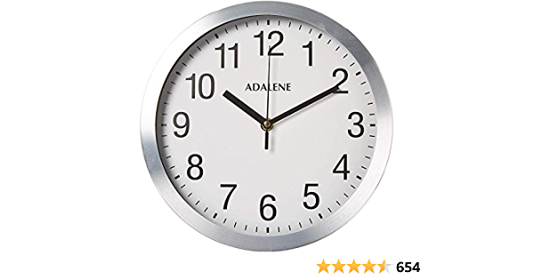 Adalene Modern Metal Wall Clock Silent 10 Inch Analog Wall Clocks Battery Operated Non Ticking White Face Aluminum Wall Clocks Decorative Living Room Décor Kitchen Bedroom Bathroom Office Amazon Ca Home Kitchen