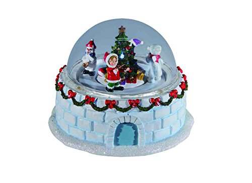 CC Christmas Decor Set of 2 Green and Red Decorative Igloo Designed LED Tabletop Domes 4'' by CC Christmas Decor