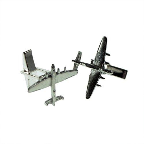 Lancaster Cufflinks - Gtr Men's Cufflinks XDCL003 English Made Lancaster Bomber Aircraft Pewter Cufflinks In Leatherette Box
