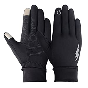 Unisex Touch Screen Gloves - Winter Warm Thermal Gloves Outdoors Gloves Cycling Gloves Running Gloves Cold Weather Gloves Texting Gloves Driving Gloves for Men and Women (Black, M)