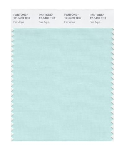 PANTONE Smart 12-5409X Color Swatch Card, Fair Aqua