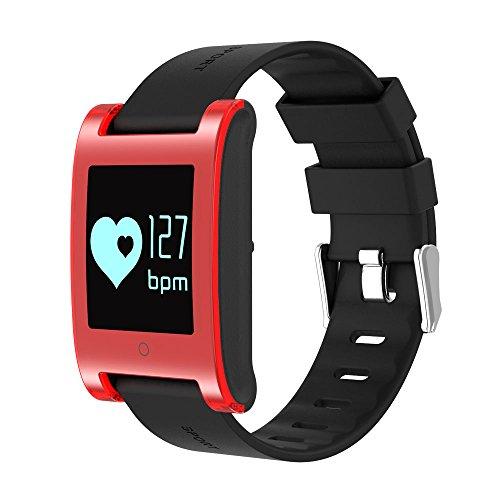 OLSUS DM68 Waterproof Smart Bracelet with Blood Pressure Heart Rate - Red