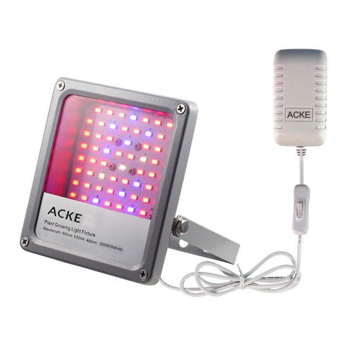 ACKE LED Grow Lights Fixtures Plant Lights 24W for Plants' Seedlings Hydroponics Green House Aeroponics Herbs Veg. Flower (SMD with switch)