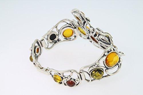 Bracelet en Ambre PU BR390/14 - Bijoux en argent et Ambre - Diverses pierres possible - ARTIPOL
