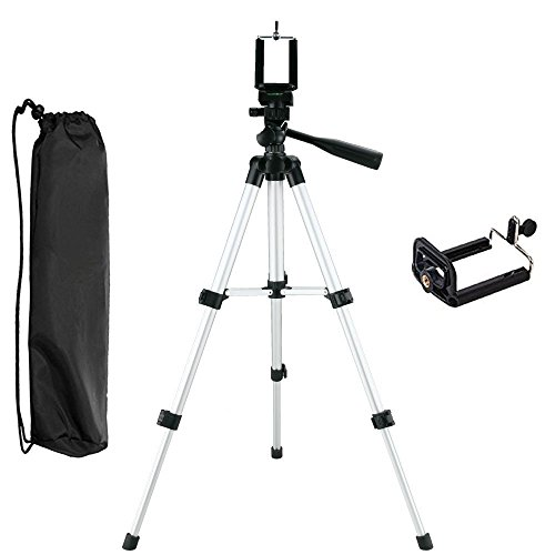 - NUTK iPhone Camera Tripod, Portable Adjustable Aluminum Lightweight Camera Stand with Smartphone Holder Mount for iPhone X/ 8/7/7 Plus 6s Plus 6 SE 5 5C Samsung Galaxy S6 S7, Camera and Gopro.