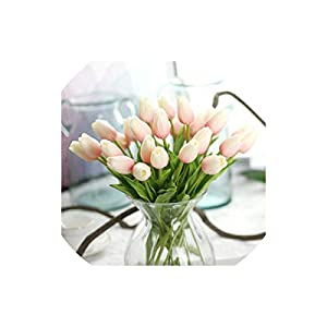 Artificial Tulips 30Pcs/Lot Artificial Mini Tulips Flower Real Touch Pu Flores for Home Wedding Party Decoration,H,30 Pcs 8