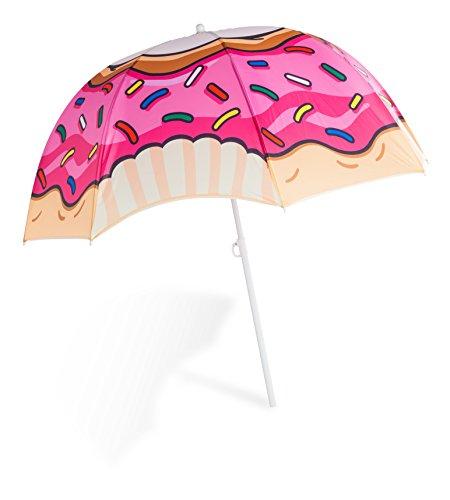 BigMouth Inc. Donut Colorful Beach Umbrella, Perfect
