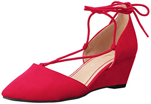 CL by Chinese Laundry WoMen Trissa Wedge Pump Chili Red Super Suede