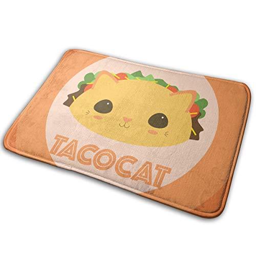 Anonymous Guest Indoor/Outdoor Doormat Super Absorbs Mud Mat Taco Cat Hamburg Non Slip 15.7