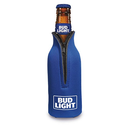 Officially Licensed Bud Light Bottle Suit Neoprene Beer Huggie Cooler Zipper Sleeve (2)
