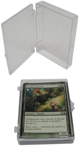 100 Bcw Brand 35 Trading Card Capacity Hinged Kasten / Holder / Case - Tcbrhb35 - Protect Ihre Valuable Sports und Gaming Cards!