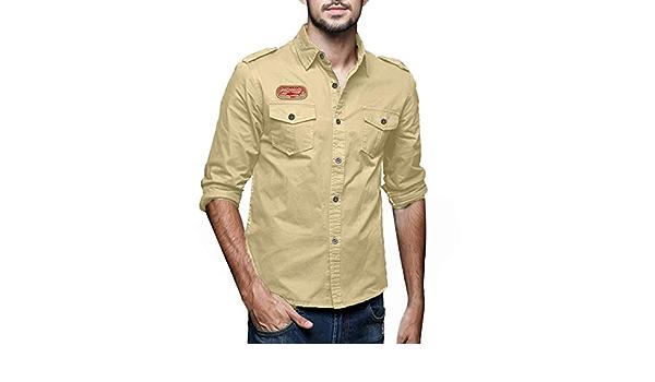 Overdose Camisas Hombre Manga Larga Tallas Grandes Camiseta ...