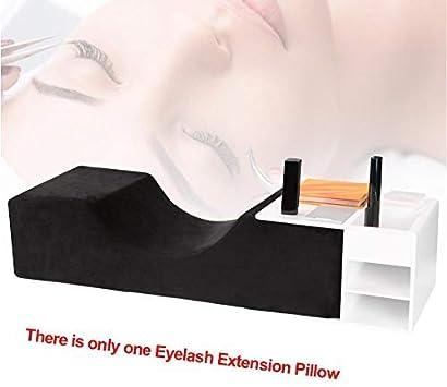 GCDN Cil Extension Oreiller Ergonomique Professionnel Greff/és Salon Repose-T/ête Anti Slip U Forme Doux Pied Cou Maquillage Outils Imperm/éable Support Noir Free Size - Noir
