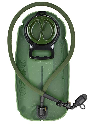 MARCHWAY 2L/2.5L/3L TPU Hydration Bladder, Tasteless BPA Free Water Reservoir Bag with Insulated Tube for Hydration Pack for Cycling, Hiking, Running, Climbing, Biking (2.5L Green 85oz)