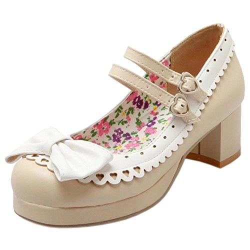 Round Women Toe Coolcept Beige Court Shoes xPYxUqw