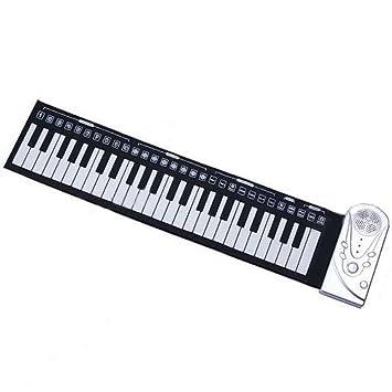 Portátil Enrollable suave electrónico USB Piano órgano teclado nuevo 49 teclas y 30 función estilo suave teclado Piano: Amazon.es: Juguetes y juegos