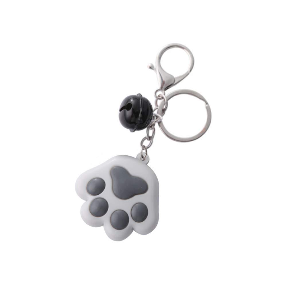 Llavero colgante de goma suave tridimensional del coche de Bell de la garra del gato//colgante de la cremallera de la mochila