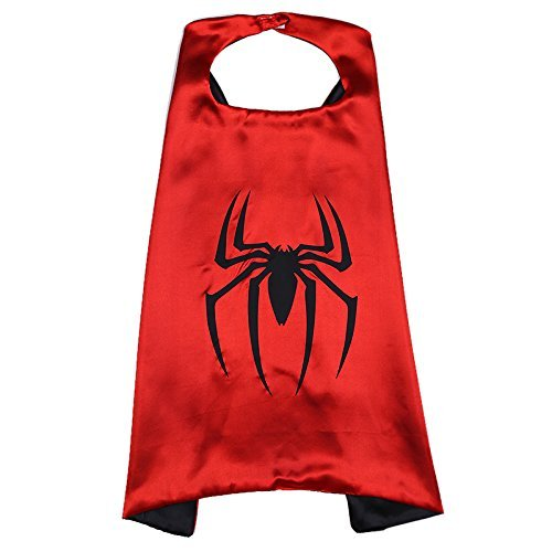 Spiderman Cape And Mask Set. Spiderman Mask.Superhero Cape (Real Spiderman Outfit)