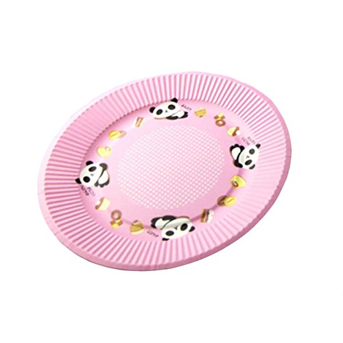 10PCS Disposable Paper Plates Environmental Cake Platters 7'' Dessert Container Panda - 7' Plates Pink Dessert Paper