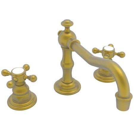 Newport Brass 930/10 Chesterfield Double Handle Widespread Lavatory Faucet with Metal Cross Handles (, Satin Bronze (Double Brass Handle 930)