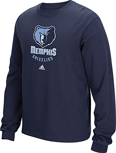 NBA Memphis Grizzlies Men's Full Primary Logo Long Sleeve Tee, XX-Large, Navy