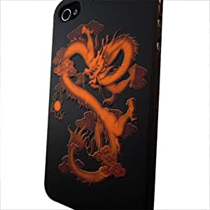 Skque Relief Dragon Hard Case for Apple iPhone 4/4S