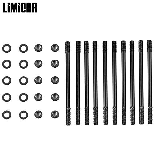 LIMICAR Cylinder Head Stud Kit For Acura 1.8L B18C1 Series DOHC VTEC Engines LS-VTEC or B20-VTEC Conversions with B16 or B18C Heads 208-4306 -