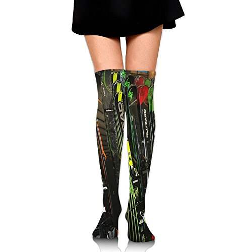 PengMin Twin Tip Snow Skis Cotton Compression Socks For Women. Graduated Stockings For Nurses, Maternity, Travel, Flight,Varicose Veins,Running & Fitness, Calf Support.