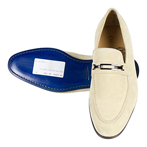 2f6e16525d079 Sutor Mantellassi Crem Suede Leather Loafers Shoes Size 10.5 U.S.