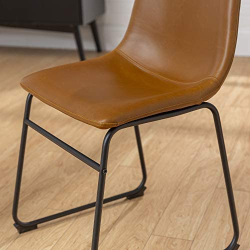 Walker Edison Furniture 18″ Industrial Faux Leather Kitchen Dining Chair
